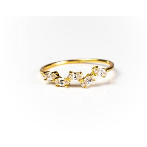 blush and bar Jewelry - GENNA 18K GOLD VERMEIL RING